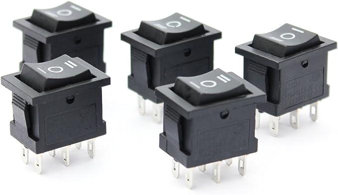 Ytian 5 Stücke 6 Pin Spdt On Off On 3 Position Elektronik