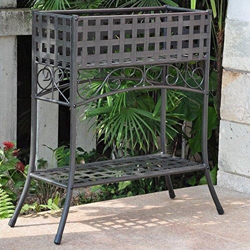 International Caravan Galleria Outdoor Plant Stand (Rectangular Plant Stand)