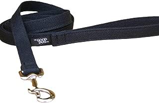 "product image for The Good Dog Company Hemp Canvas Basic Leashes (1/2"" Standard, Black)"