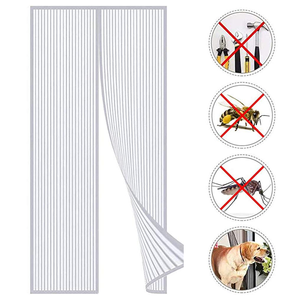 Apply to Living Room and Patio Doors are Automatically Closed by Insect Screens Magnetic Fly Insect Screen Door Easy to Install Without Drilling Fly Screen Door White