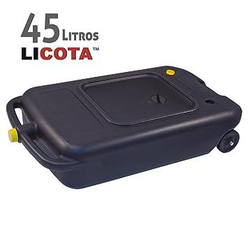 BIDÓN RECOGEDOR Aceite Usado con Ruedas y Tapón para Camión Coche ...
