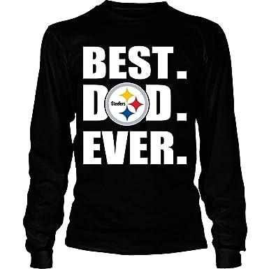 b8d5f0fa Amazon.com: PORTSHOP Pittsburgh Steelers T Shirt, Best Dad Ever T Shirt -  Long Sleeve Tees: Clothing