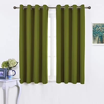 Amazoncom NICETOWN 45 Bedroom Curtains Panels Functional