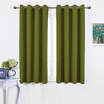 NICETOWN 45u0026quot; Bedroom Curtains Panels   Functional Blackout Curtains/Panels  For Bedroom, Thermal