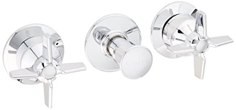 Kohler Three Handle Shower Faucet.Kohler K T7751 3 Cp Triton Three Handle Wall Mount Valve Trim Polished Chrome