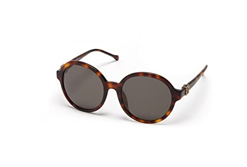 Loewe SLW949G5709AJ, Occhiali da Sole Donna, Marrone (Shiny Brown Havana), 57