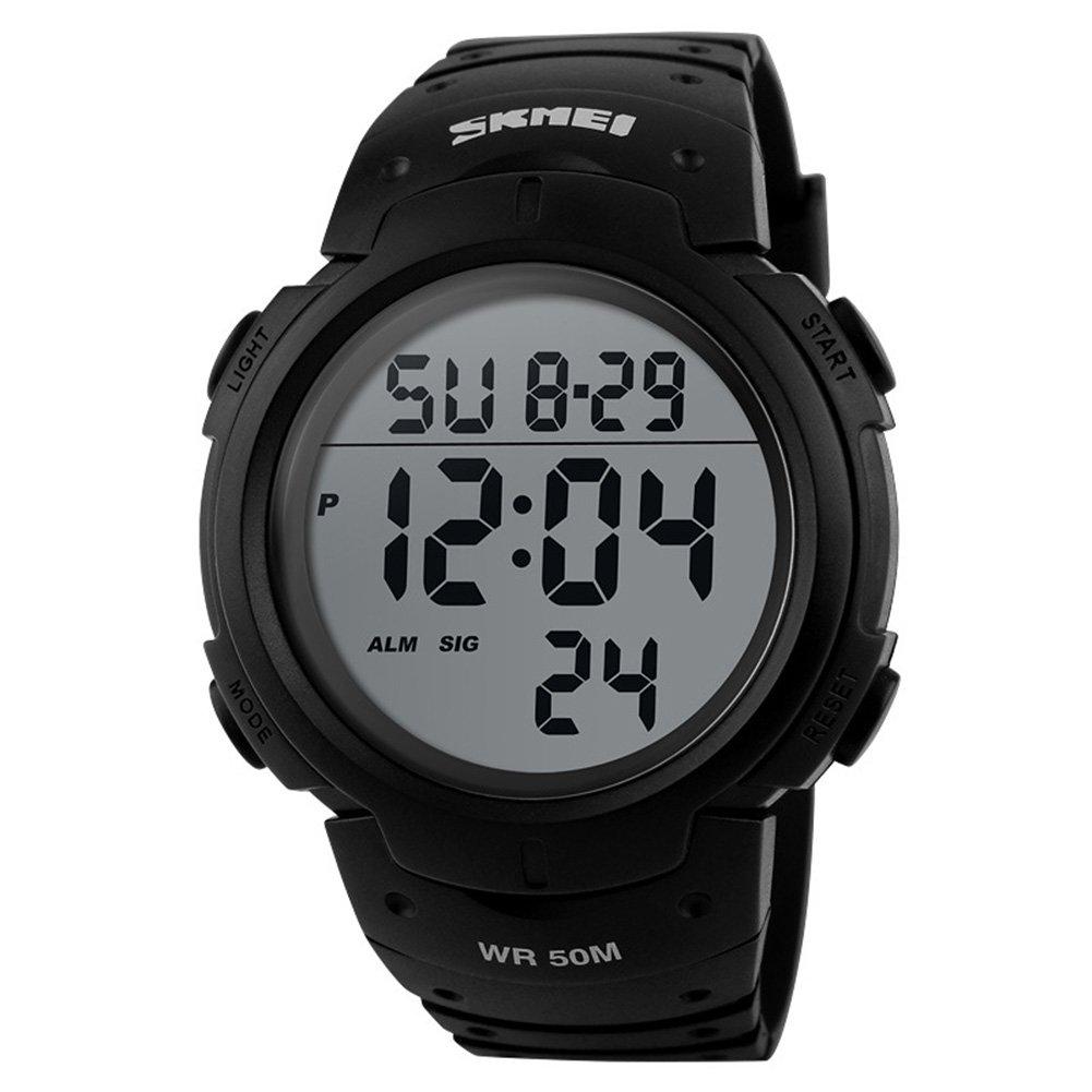 ETbotu Boy Outdoor Sports Alarm Calendar Chronograph Waterproof Watch L Backlight Digital Wrist Watch by ETbotu
