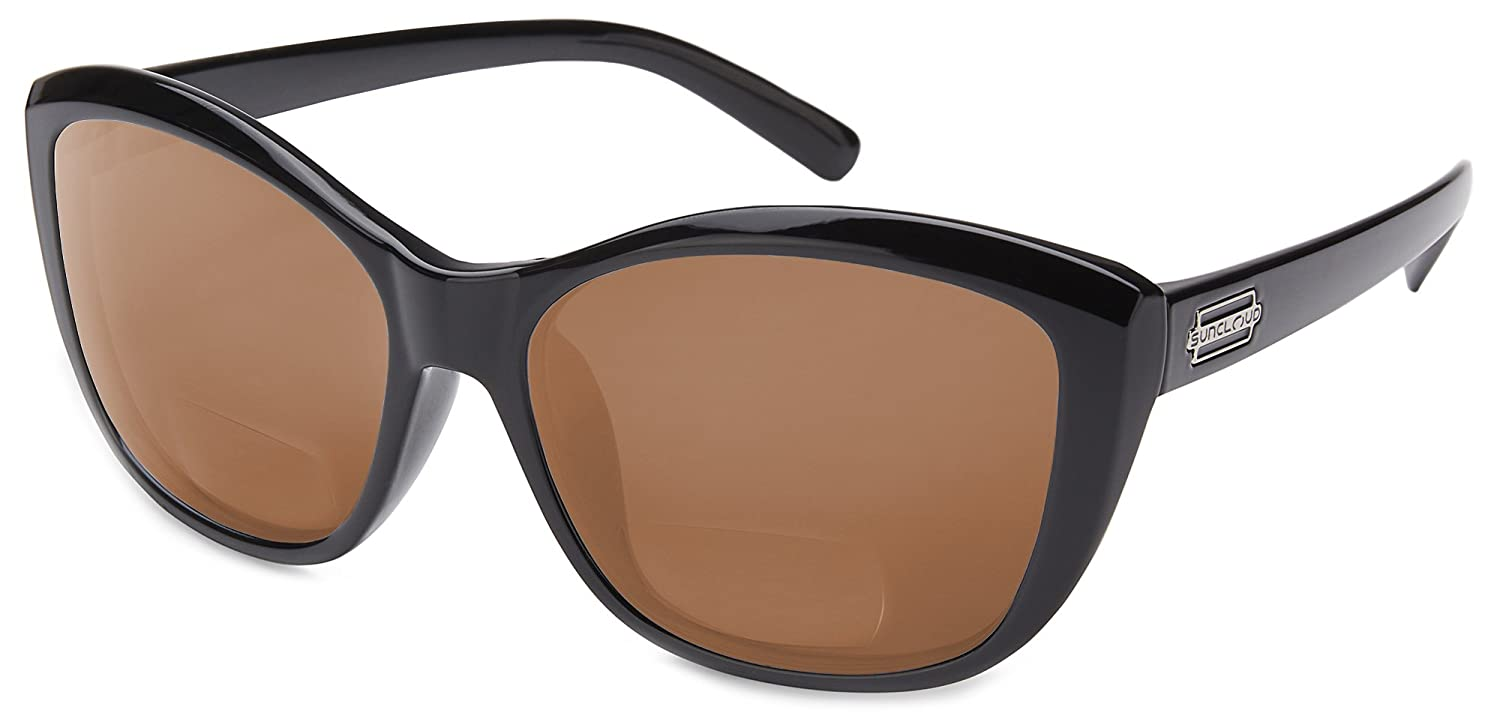 e957522af4 Amazon.com  Suncloud Skyline Polarized Bi-Focal Reading Sunglasses in  Bronze with Blue Mirror Lens +1.00  Clothing