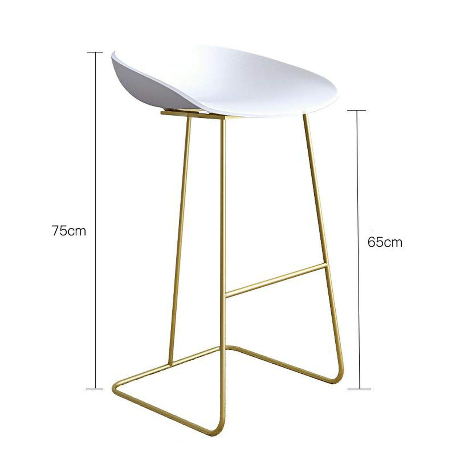 Style 9 one size Bar Stools gold Wrought Iron Stool Modern Minimalist Home Backrest High Chair Creative Net Red Bar,Style 11