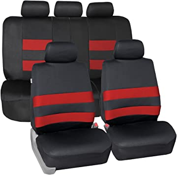Neoprene Waterproof Airbag Compatible and Split Bench Red FH Group FB083RED115 Full Set Seat Cover