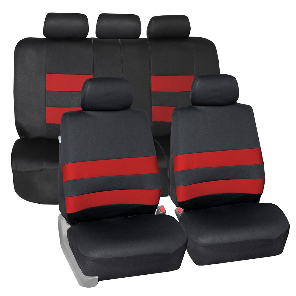 FH Group FB087BLACK115 Premium Neoprene Seat Cover (Water Resistant/Airbag/Split Bench Compatible) Cushion
