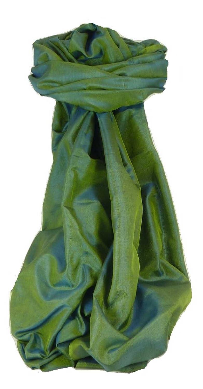 Varanasi Premium Silk Long Scarf Heritage Range Prasad Emerald by Pashmina & Silk