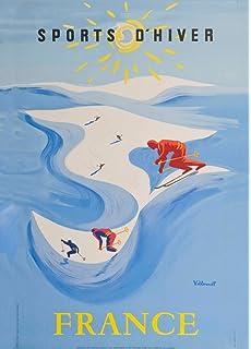 A2  Reprint Vintage Mont Blanc Glacier Railroad Poster A3