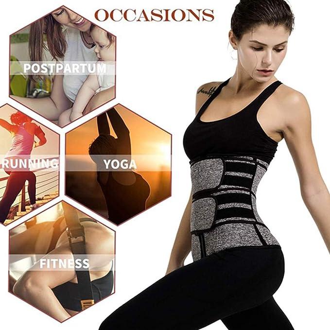 estómago yithinc Cinturón Cinturón Ajustable de la quema de grasa sudor Sauna Condensador de ajuste en la cintura cinturón