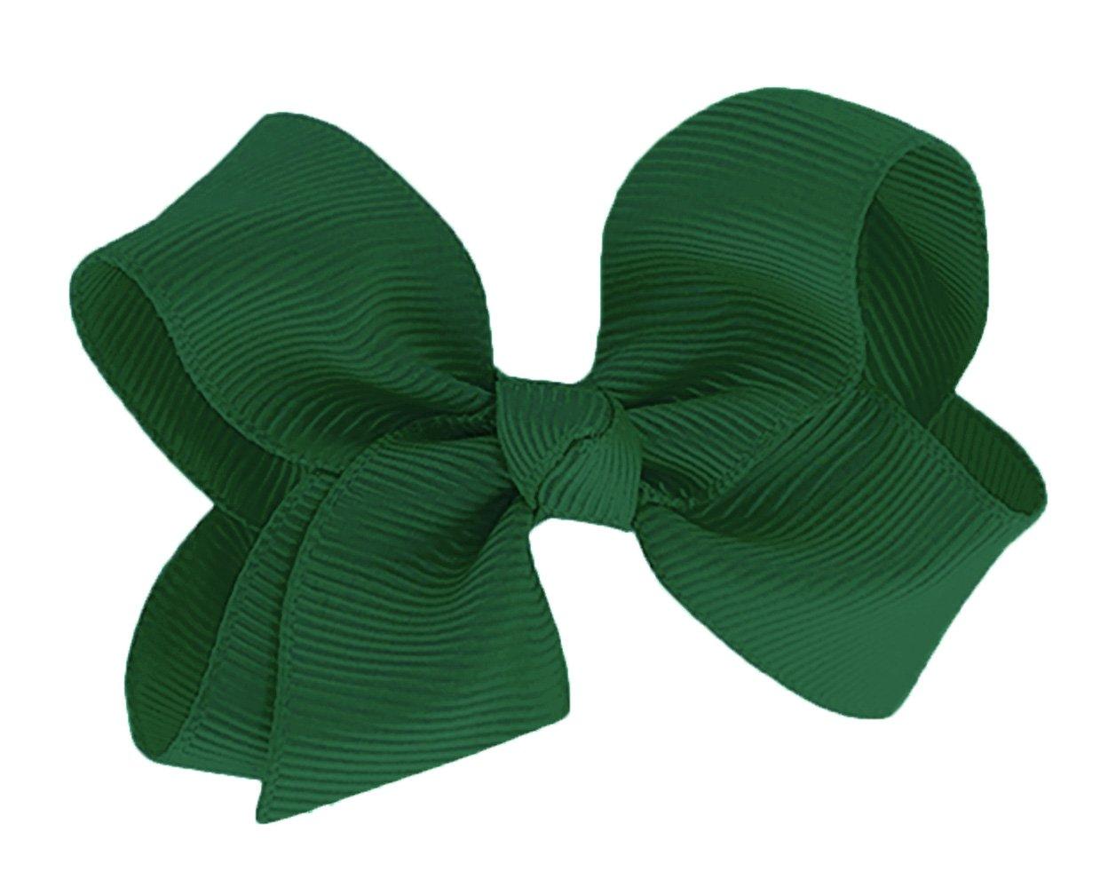 WD2U Baby Girls 3 by 2 GrosGrain Knotted Boutique Hair Bow Alligator Clip USA Webb Direct 2U WD2U-1094A-Black
