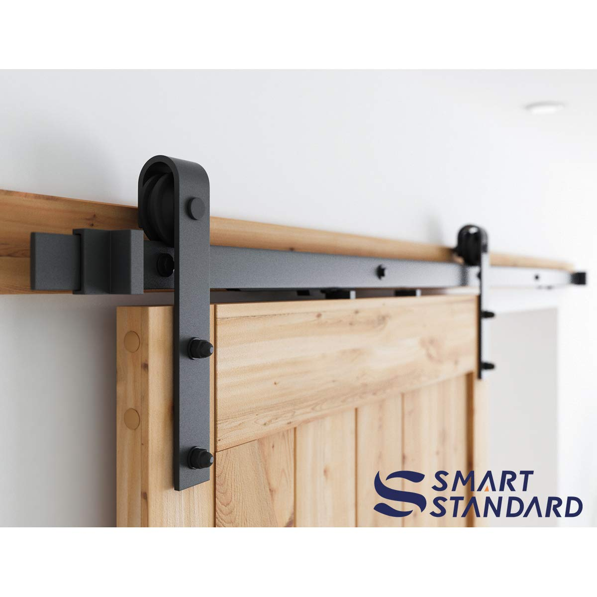 6.6ft Soft Close Heavy Duty Sturdy Sliding Barn Door Hardware Kit - Smoothly and Quietly - Simple and Easy to Install - Includes Step-By-Step Installation Instruction -Fit 36''-40'' Door Panel(J Shape) by SMARTSTANDARD (Image #3)