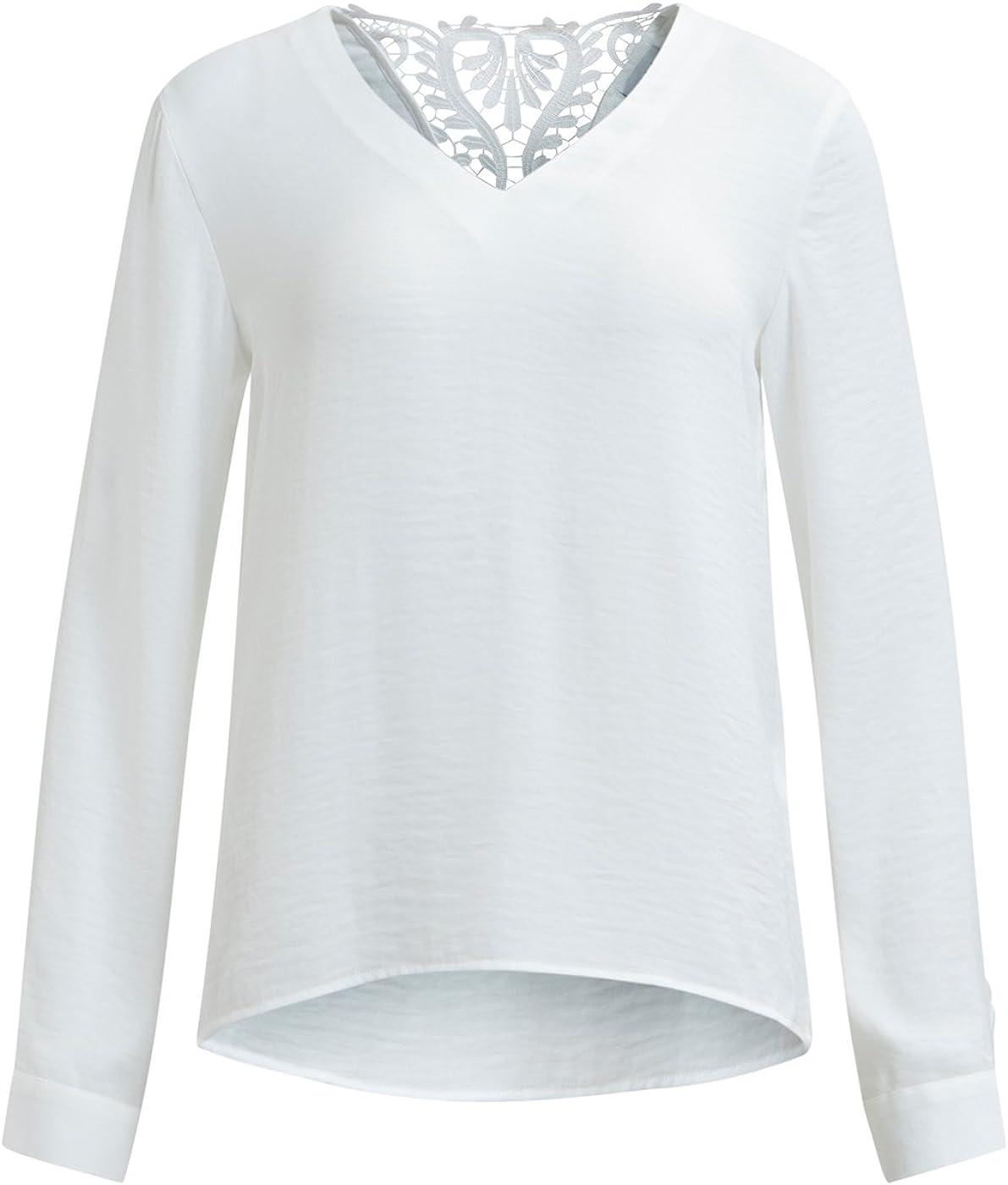 Vila Blusa ibicenca Crochet Espalda Vilaceback Clothes (S - Blanco): Amazon.es: Ropa y accesorios