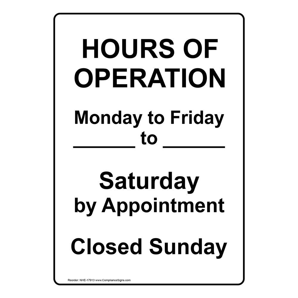 compliancesigns escribible aluminio abierto/cerrado/horas ...