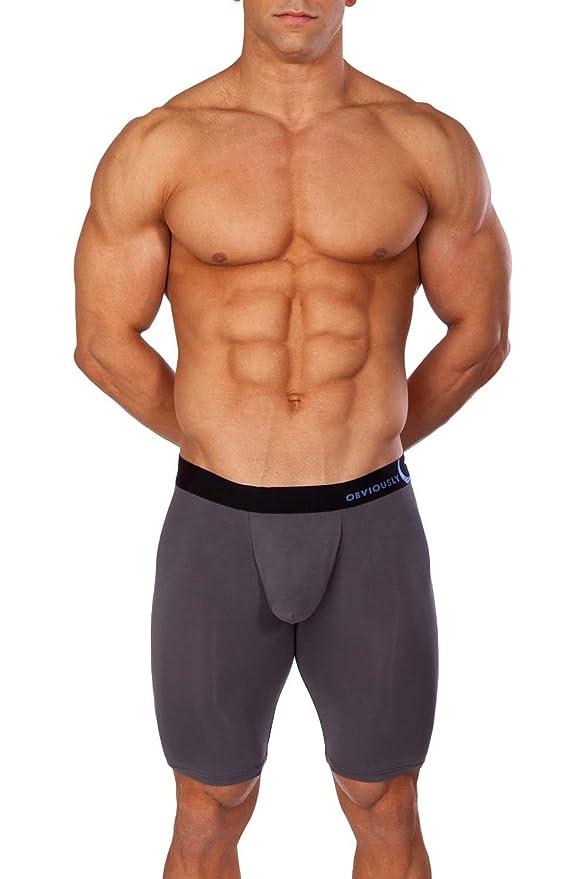 Obviously Naked Boxer Brief 3 inch Leg Medium, Black - XobMaer