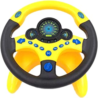 Copilot Simulated Driving Steering Wheel Toy for Kids Children's Educational Sounding Toy Small Steering Wheel With Music, Simulated Driving Controller - Great Funny Toy Gift for Baby