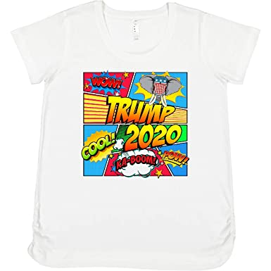 7fe919b12a809 inktastic - Trump 2020 Comic Book Maternity Shirt 30f96 at Amazon Women's  Clothing store: