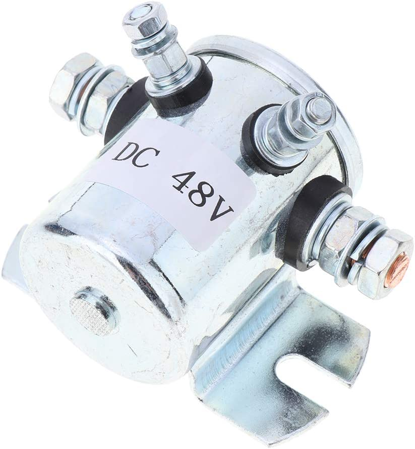 Heavy Duty Trucks 200A 36V//48V Starter Solenoid Switch with 400A Max Transient Current for Starting Large Cars Forklifts 36V