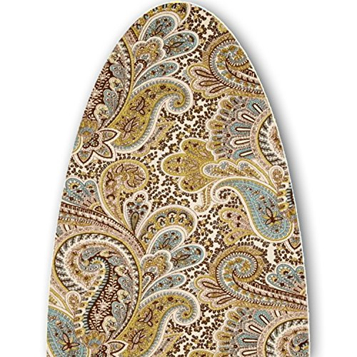 (ClarUSA Premium Ironing Board Replacement Cover Fits Broan Nutone Models Chocolate Paisley Print)