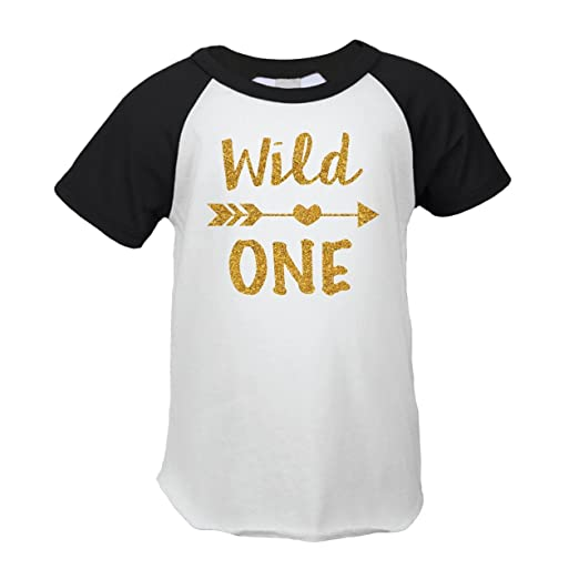 a2e4fdea0 First Birthday Outfit Girl Wild One Birthday Girl T-Shirt (12 Months)