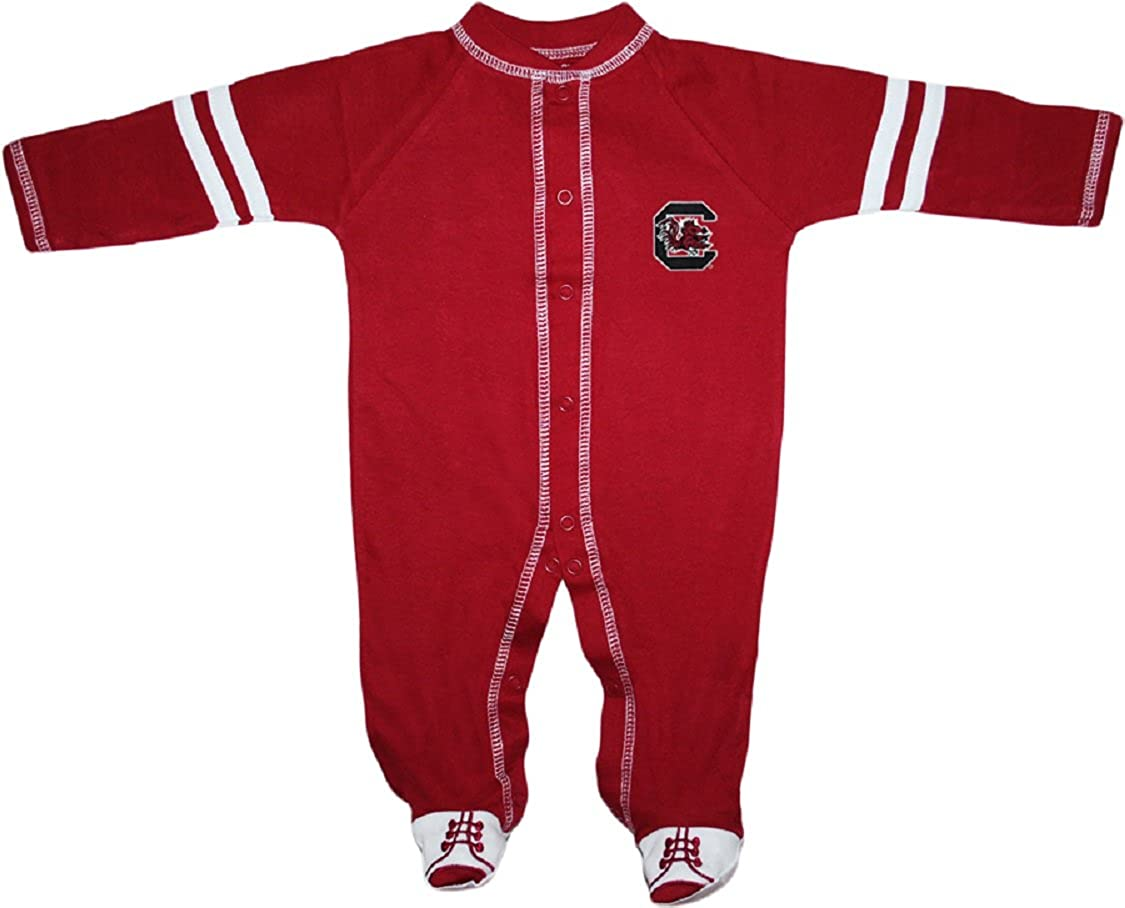 University of South Carolina Gamecocks Sports Shoe Footed Baby Romper