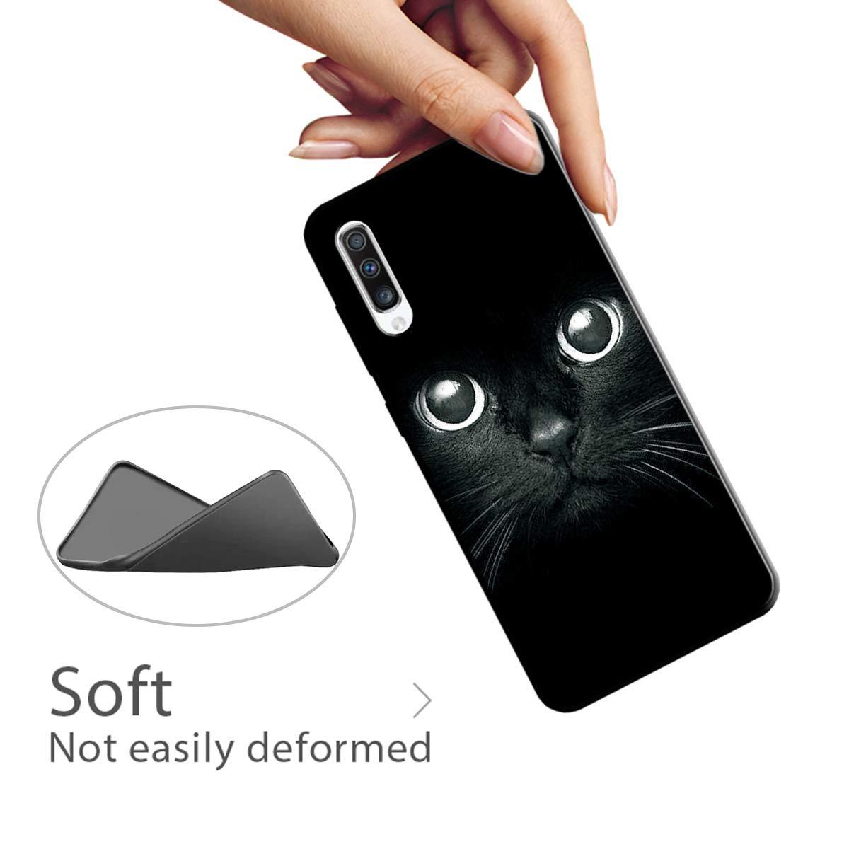 Funda Samsung Galaxy A70 Carcasa para Samsung Galaxy A70 Silicona Antigolpes Suave Flexible TPU Ultra Delgado Ligero Gel Goma Cubierta Case Jalea Protectora Bumper Negro Tigre