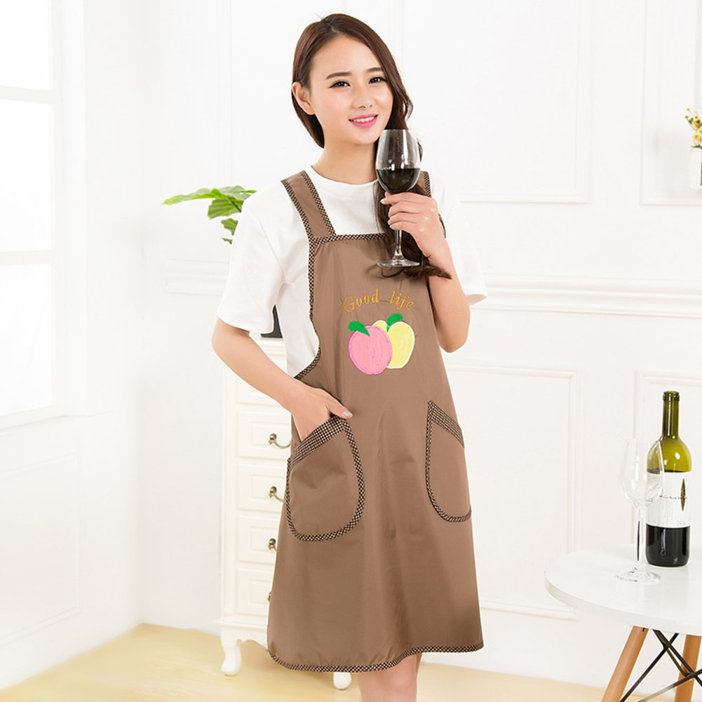 XMZDDZ One-piece Full body Apron,Long sleeve Kitchen restaurant Bib apron Women's Apron With pockets For chef kitchen bbq and grill-F by XMZDDZ