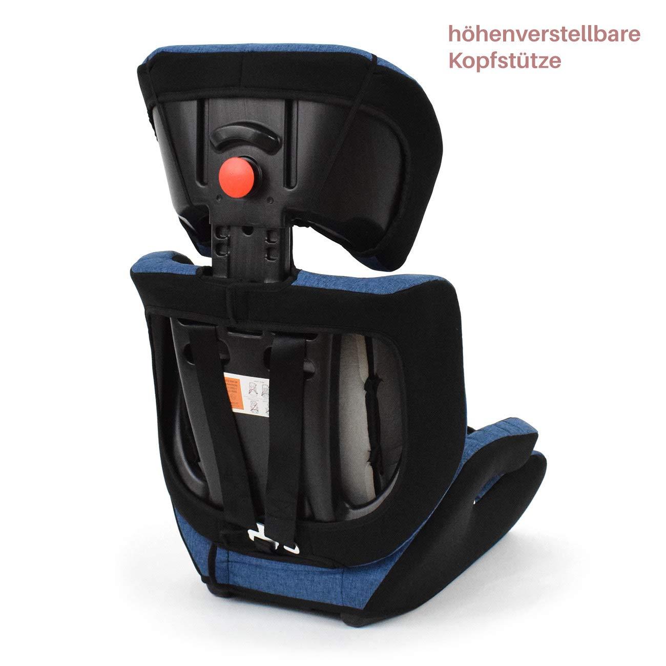 Daliya mitwachsender Autokindersitz Autositz Kinderautositz 9-36kg Gruppe 1+2+3 ECE R 44//04 Beige Schwarz