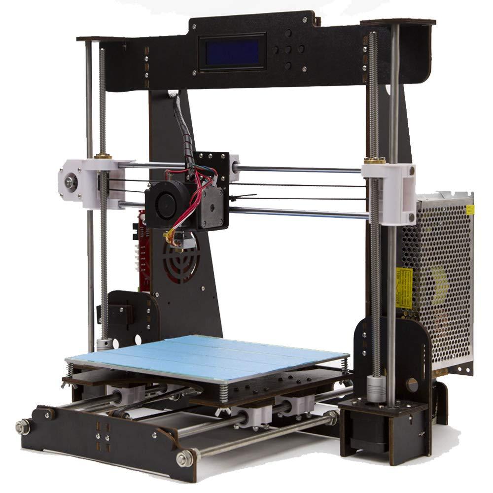 GUCOCO A8 en Bois DIY 3D Imprimante Kits Reprap Prusa i3 Mise À Jour MK8 Extrudeuse 220 * 220 * 240mm Taille d'impression (A8 3D Imprimante)