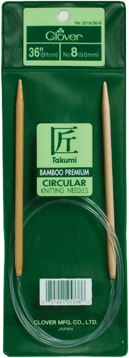 Clover Takumi Bamboo Circular 36-Inch Knitting Needles Size 7