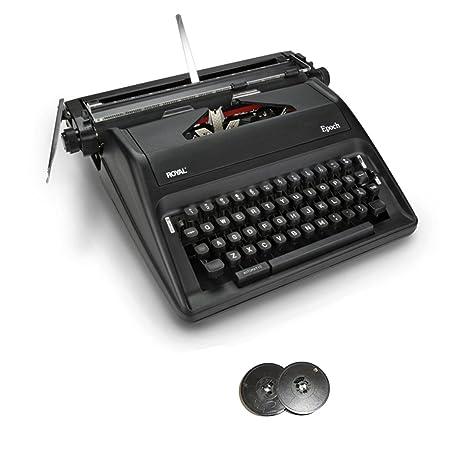 Royal Epoch Manual Máquina de escribir portátil con bobina de Deluxe – Cinta para máquina de