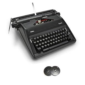 Royal Epoch Manual Máquina de escribir portátil con bobina de Deluxe - Cinta para máquina de escribir (Pack de 2): Amazon.es: Electrónica