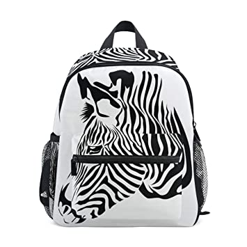 0d8664d4906c Amazon.com | Jojogood Zebra Head Toddler Kids School Backpack Cute ...