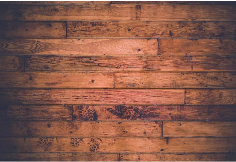 Haoyiyi 10x8ft Wood Backdrop for Baby Shower Background Worn Nostalgia Natural Retro Russet Grunge Photography Photo Children Child Holiday YouTube Picture Decorations Pictures Video Drop
