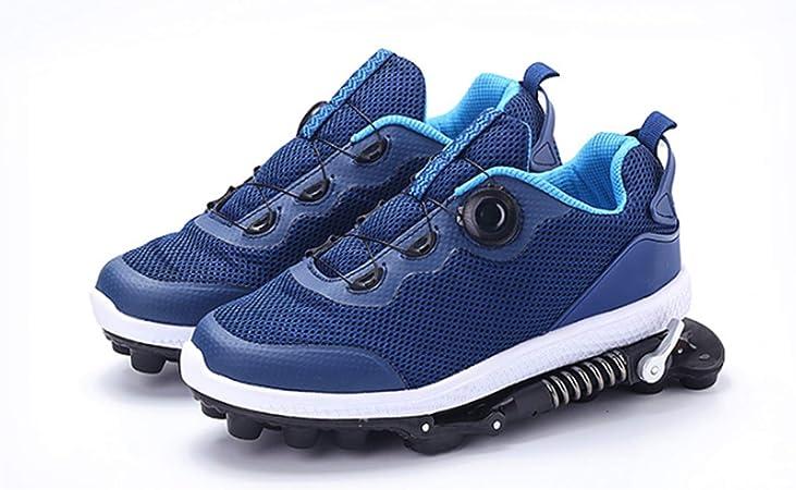 GYFY Zapatillas de Deporte funcionales para Hombres y Mujeres, Deportivas, Transpirables, Resistentes al Desgaste, amortiguadores de muelles, Zapatillas mecánicas para Correr,Blue,40: Amazon.es: Hogar