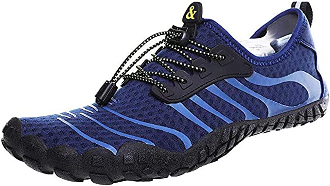 Yomiafy Unisex Quick-Dry Water Shoes Pool Beach Swim Drawstring Diving Shoes Barefoot Aqua Socks