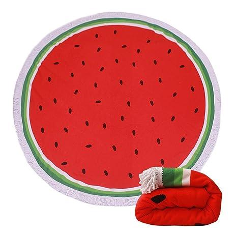 tamengi redonda sandía fruta playa manta toalla de playa Roundie gigantesco Terry toalla de círculo