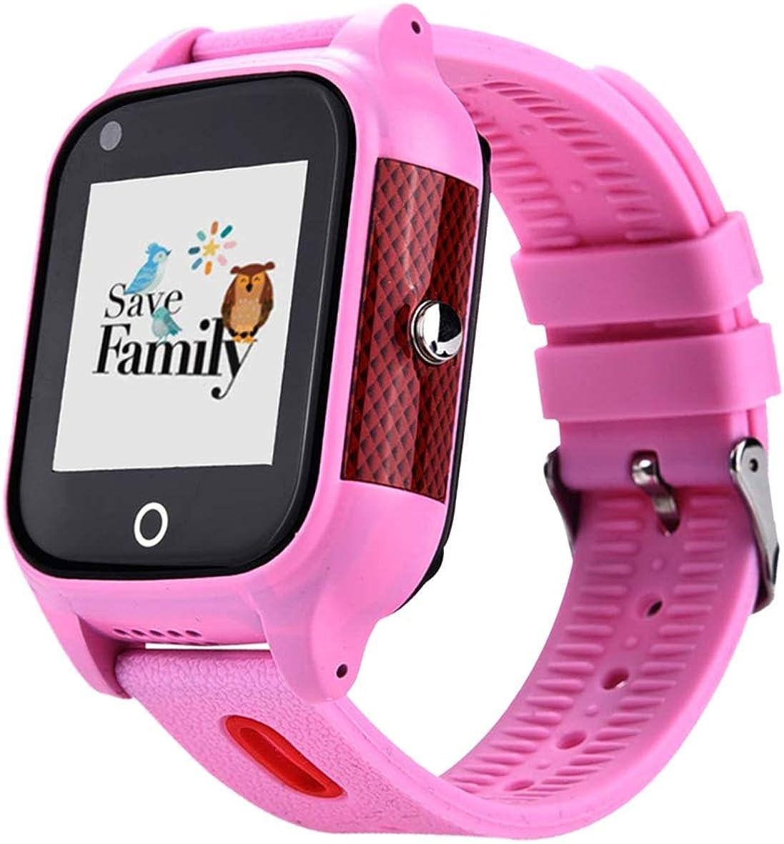 Reloj-Smartwatch 4G con Videollamada & GPS instantáneo para niños SaveFamily. Reloj con WiFi, Bluetooth, identificador de Llamadas, Boton SOS Resistente al Agua Ip67. App Propia SaveFamily