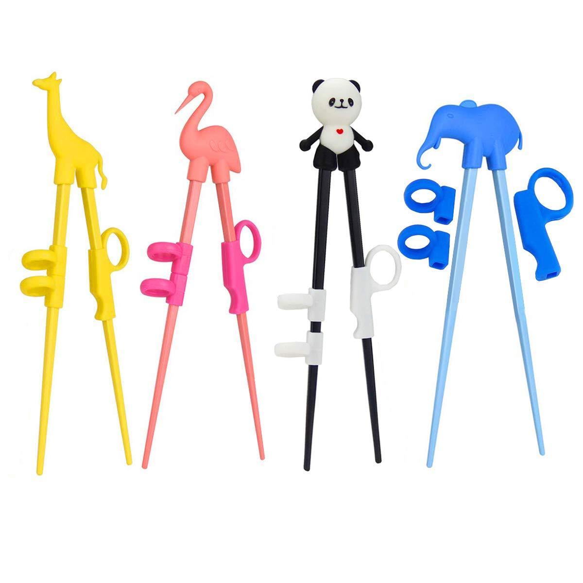 最安価格 UKCG 4組 漫画学習箸ヘルパー 子供のトレーニング箸 B07P9WNT2N 動物の箸 子供 4組 大人 初心者用 初心者用 B07P9WNT2N, マリイソル:ca9a7ccd --- yelica.com