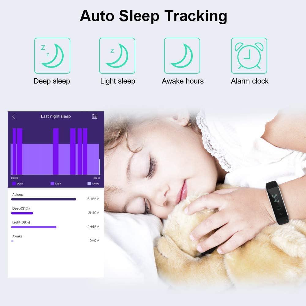 relojes inteligentes para mujer Monitor de actividad para ni/ños contador de pasos monitor de actividad y ritmo card/íaco contador de calor/ías monitor de sue/ño monitor de actividad