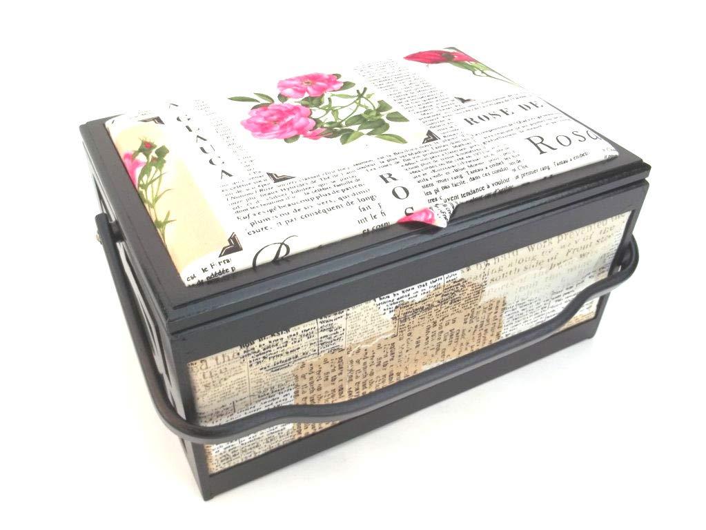 Boîte à couture noir/blanc grand format, série spéciale de korbhaus gesthüsen