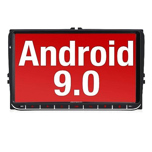 Nuevo Pumpkin 9 Android 9 0 Autoradio para VW 2 DIN Radio GPS navegador Compatible con Bluetooth Control Volante USB WiFi 4G Micro SD Mirror Link Dab