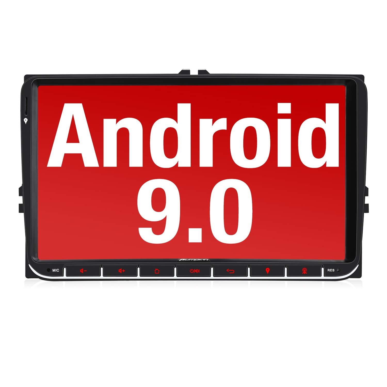 Mirror-Link controllo volante Dab +. Pumpkin 4G Autoradio da 9 USB Wi-Fi Android 9.0 per VW compatibile con Bluetooth radio GPS 2 DIN Micro SD