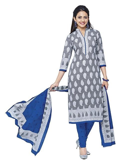 50867794ec7b Shree Ganesh Cotton White Dress Material  Amazon.in  Clothing ...