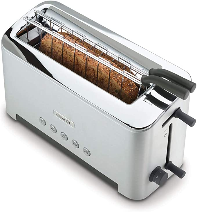 Kenwood Persona TTM610 - Tostadora con una abertura larga para 2 tostadas o una grande, rejilla extraible cómoda, varios programas, 1080 W, color plata: Amazon.es: Hogar