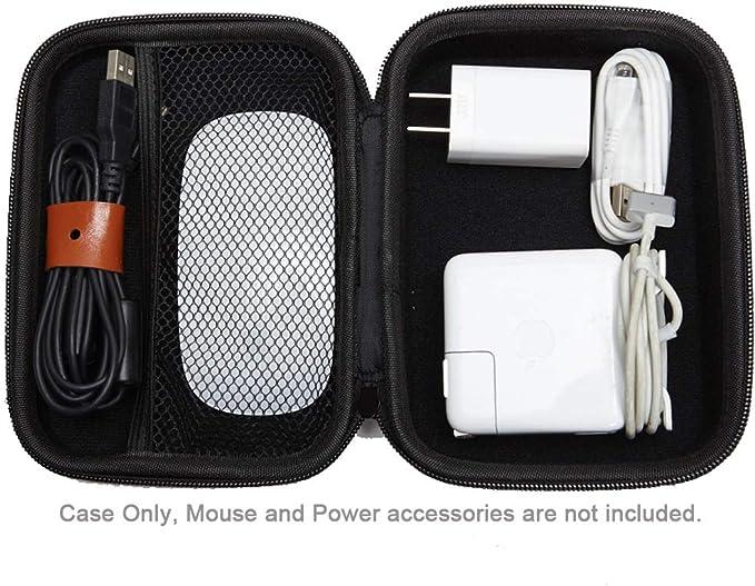 CoWalkers Estuche Adaptador de Corriente, Funda rígido Compatible con Apple Pencil, Magic Mouse, Adaptador de Corriente Magsafe, Cable de Carga magnético(Negro): Amazon.com.mx: Electrónicos